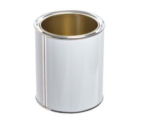 750 ML Tinplate White Lacquered Lever lid Tin