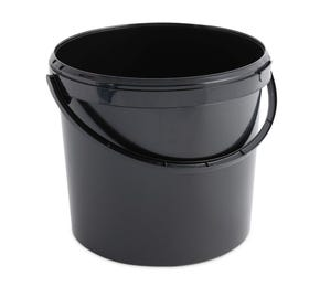 12.5 L Plastic Black Bucket with Plastic Handle