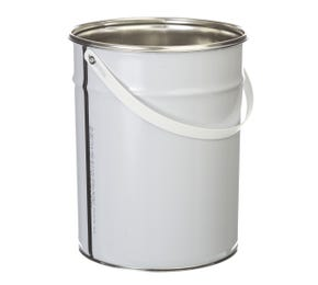 5 L Metal White UN Approved Bucket with Plain Interior