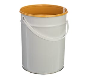 5 L Metal White UN Approved Bucket with Lacquered Interior