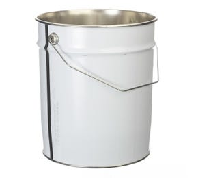 11 L Metal White UN Approved Bucket with Plain Interior