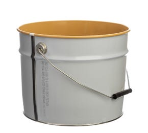 12 L Metal White UN Approved Bucket with Lacquered Interior