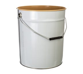20 L Metal White UN Approved Bucket with Lacquered Interior