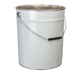 20 L Metal White UN Approved Bucket with Plain Interior