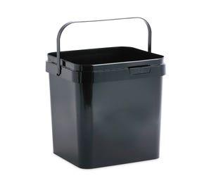 17 L Plastic Square Black Bucket with Plastic Handle