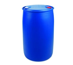 220 L Plastic Blue UN Approved Tighthead Drum Single L Ring