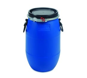 30 L Plastic Blue UN Approved Open Top Drum