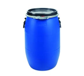 60 L Plastic Blue UN Approved Open Top Drum