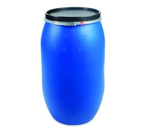 220 L Plastic Blue Open Top Keg UN