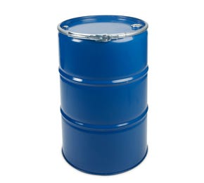 210 L Steel Blue Plain Open Top Keg UN with 2inch & 3/4inch Bung