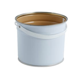 3 L Metal White Tulip Bucket With Lacquered Interior