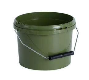 2.5 L Plastic Green Bucket with Wire Handle