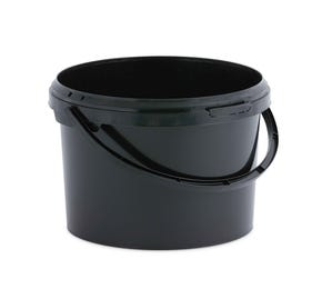 3 L Plastic Black Bucket with Plastic Handle