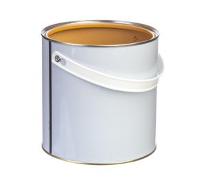 2.5 L Tinplate White Lacquered Lever Lid Tin