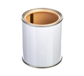 125 ML Tinplate White Lacquered Lever Lid Tin And Lid