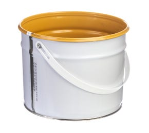 3 L Metal White UN Approved Bucket with Lacquered Interior