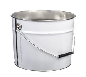 12 L Metal White UN Approved Bucket with Plain Interior