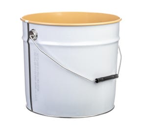 15 L Metal White UN Approved Bucket With Lacquered Interior