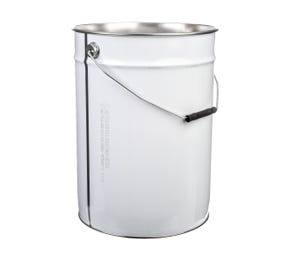 23 L Metal White UN Approved Bucket With Plain Interior