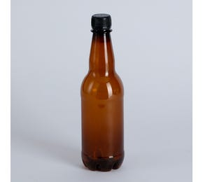 500 ML Brown PET Bottle and Lid