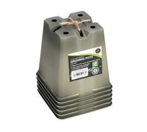 9cm Square Biodegradable Plant Pots (5 pk)