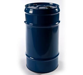 57 L Steel Blue Lacquered Tighthead Drum UN with 2inch & 3/4inch Bung