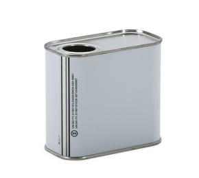 500 ML White Rectangular UN Tin with Plain Interior and Berg Opening