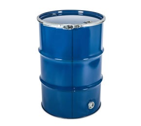 210 L Steel Blue Lacquered UN Approved Open Top Drum with Bung