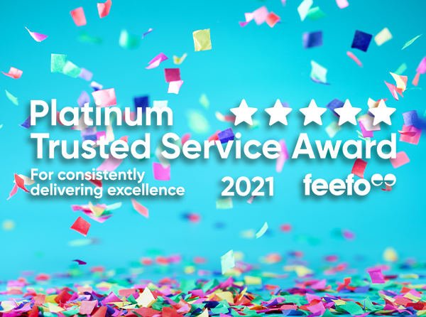 Two-time Platinum Trusted Service winners!